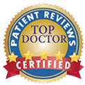 icon shows top doctor certification